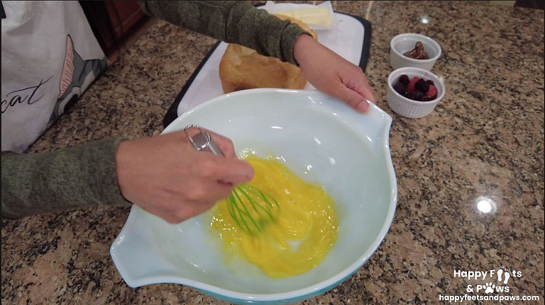 eggs being whipped