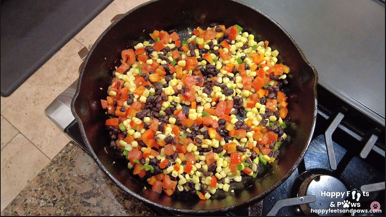 corn, tomatoes, black beans for south west egg roll recipe