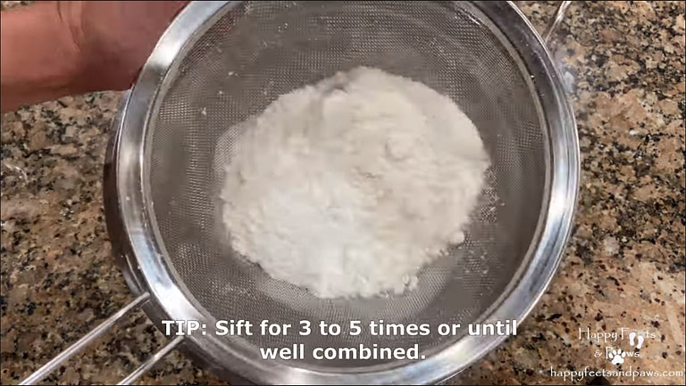 flour being sifted