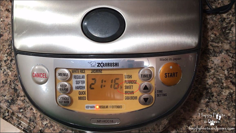 zojirushi rice cooker with sweet rice cook setting